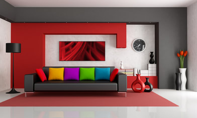 Perfectly painted bedroom wall. Pro Painters interior painting